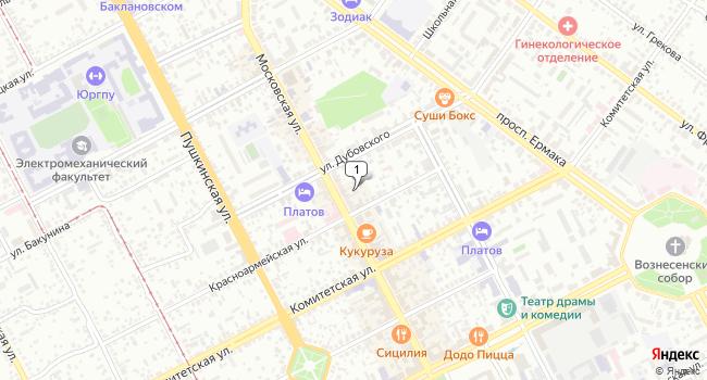 Арендовать торговую площадь 60 м<sup>2</sup> в Новочеркасске по адресу Россия, Ростовская область, Новочеркасск, Московская улица, 30