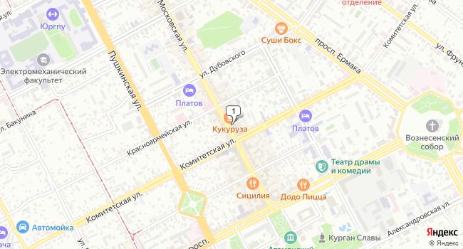 Арендовать торговую площадь 52 м<sup>2</sup> в Новочеркасске по адресу Россия, Ростовская область, Новочеркасск, Московская улица, 20