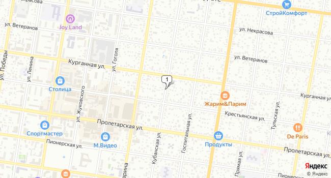 Купить офис 38 м<sup>2</sup> в Майкопе по адресу Россия, Республика Адыгея, Майкоп, Кубанская улица