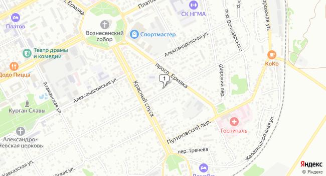 Арендовать торговую площадь 111 м<sup>2</sup> в Новочеркасске по адресу Россия, Ростовская область, Новочеркасск, Кавказская улица, 56
