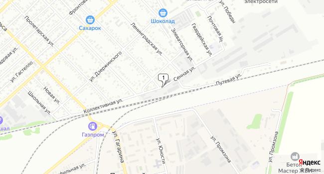 Купить торговую площадь 3364 м<sup>2</sup> в Тихорецке по адресу Россия, Краснодарский край, Тихорецкий район, Тихорецк, Сенная улица