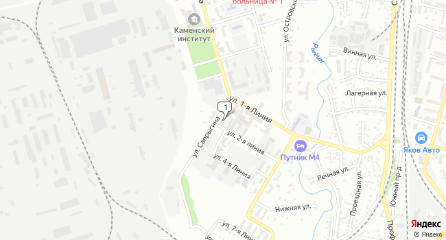 Купить торговую площадь 500 м<sup>2</sup> в Каменск-Шахтинском по адресу Россия, Ростовская область, Каменск-Шахтинский, улица 2-я линия, 1