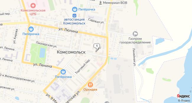Купить коммерческую недвижимость 1163 м<sup>2</sup> в Комсомольске по адресу Россия, Ивановская область, Комсомольск, Пионерская улица, 4