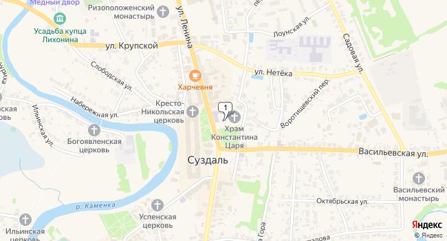 Купить торговую площадь 170 м<sup>2</sup> в Суздале по адресу Россия, Владимирская область, Суздаль, Торговая площадь, 1А