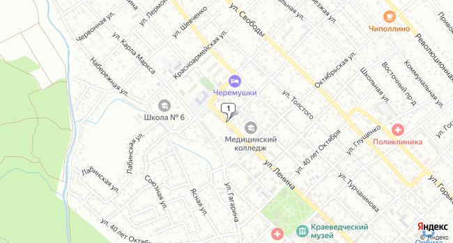 Купить производственное помещение 1200 м<sup>2</sup> в Лабинске по адресу Россия, Краснодарский край, Лабинск, улица Ленина