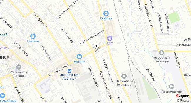 Купить торговую площадь 278 м<sup>2</sup> в Лабинске по адресу Россия, Краснодарский край, Лабинск, улица Халтурина, 30