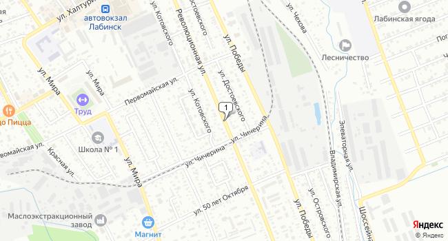 Купить склад 800 м<sup>2</sup> в Лабинске по адресу Россия, Краснодарский край, Лабинск, Революционная улица