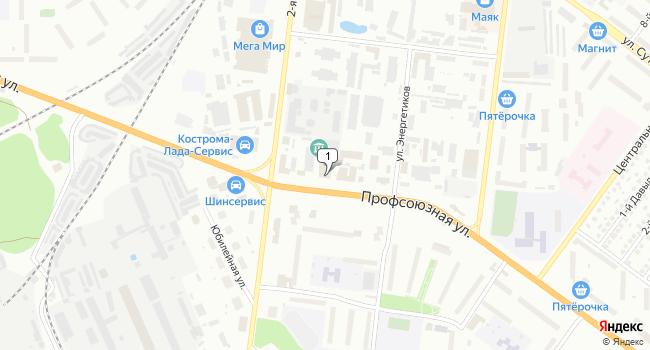 Арендовать коммерческую недвижимость 200 м<sup>2</sup> в Костроме по адресу Россия, Кострома, Профсоюзная улица, 3