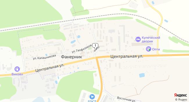 Арендовать торговую площадь 340 м<sup>2</sup> в Костроме по адресу Россия, Костромская область, Костромской район, поселок Фанерник, улица Геофизиков, 24Б