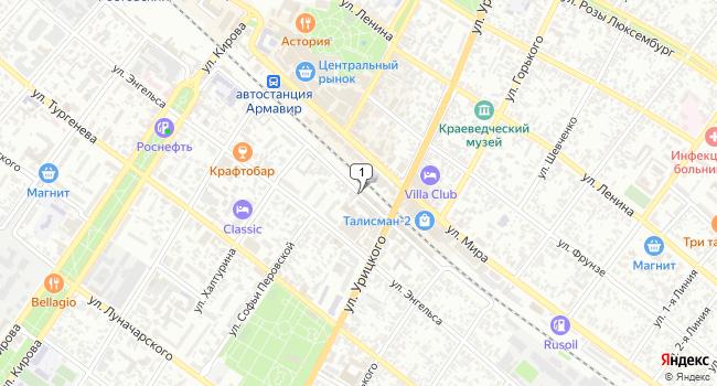 Арендовать торговую площадь 62 м<sup>2</sup> в Армавире по адресу Россия, Краснодарский край, Армавир, Железнодорожная улица
