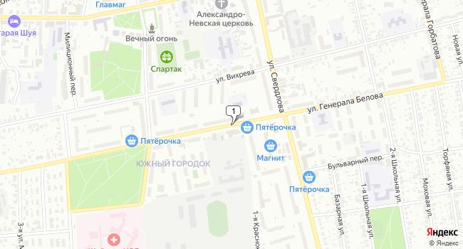 Купить склад 12000 м<sup>2</sup> в Шуе по адресу Россия, Ивановская область, Шуя, улица Генерала Белова