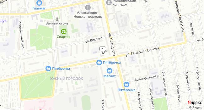 Купить коммерческую недвижимость 12000 м<sup>2</sup> в Шуе по адресу Россия, Ивановская область, Шуя, улица Генерала Белова, 45