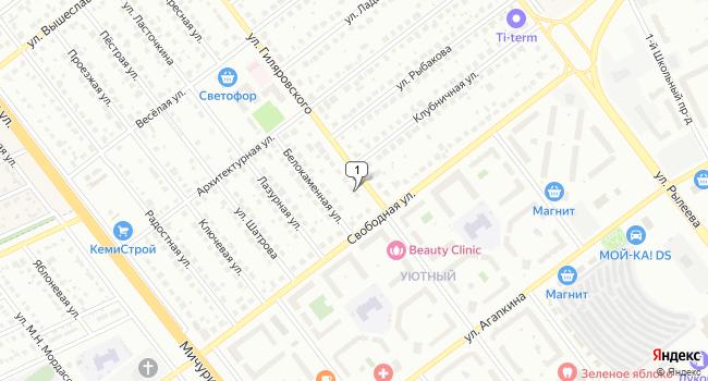 Арендовать офис 50 м<sup>2</sup> в Тамбове по адресу Россия, Тамбов, микрорайон Северный, улица Гиляровского, 6