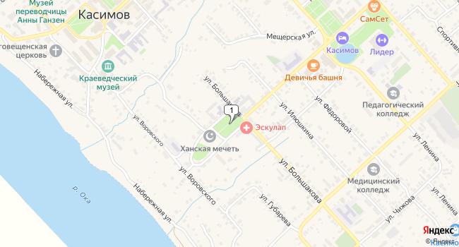 Купить коммерческую недвижимость 631 м<sup>2</sup> в Касимове по адресу Россия, Рязанская область, Касимов, площадь Победы