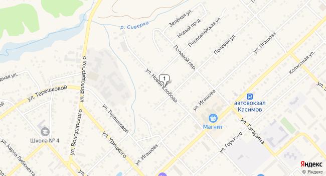 Купить склад 1650 м<sup>2</sup> в Касимове по адресу Россия, Рязанская область, Касимов, улица Новая Слобода