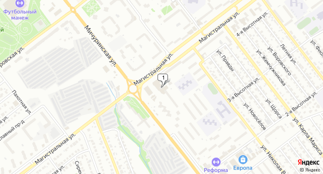Арендовать торговую площадь 1600 м<sup>2</sup> в Тамбове по адресу Россия, Тамбов, Мичуринская улица, 191Б