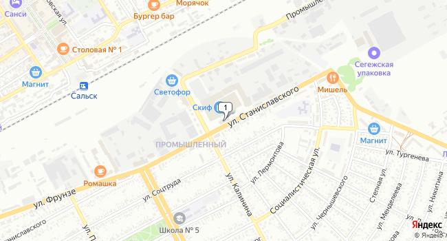 Купить производственное помещение 1023 м<sup>2</sup> в Сальске по адресу Россия, Ростовская область, Сальск, улица Станиславского, 101