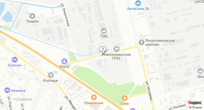 Купить офис 493 м<sup>2</sup> в Невинномысске по адресу Россия, Ставропольский край, Невинномысск, улица Энергетиков