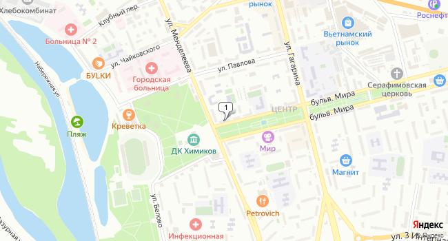 Купить офис 43 м<sup>2</sup> в Невинномысске по адресу Россия, Ставропольский край, Невинномысск, бульвар Мира, 1