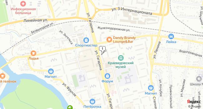 Арендовать торговую площадь 55 м<sup>2</sup> в Невинномысске по адресу Россия, Ставропольский край, Невинномысск, улица Гагарина, 47