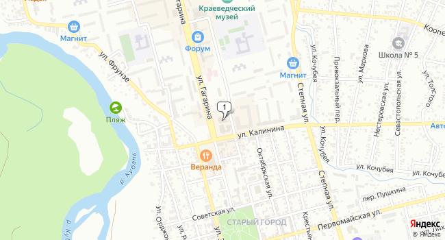 Купить торговую площадь 4000 м<sup>2</sup> в Невинномысске по адресу Россия, Ставропольский край, Невинномысск, улица Гагарина, 63