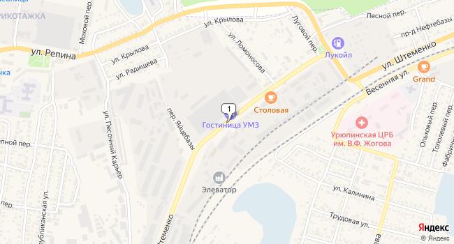 Купить офис 720 м<sup>2</sup> в Урюпинске по адресу Россия, Волгоградская область, Урюпинск, улица Штеменко