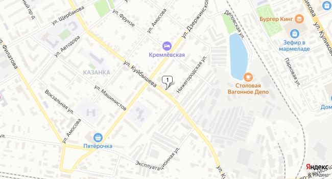 Купить торговую площадь 1080 м<sup>2</sup> в Муроме по адресу Россия, Владимирская область, Муром, улица Куйбышева, 1