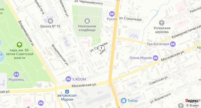 Арендовать офис 130 м<sup>2</sup> в Муроме по адресу Россия, Владимирская область, Муром, улица Сурикова, 4А
