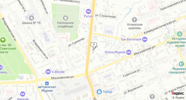 Арендовать торговую площадь 1100 м<sup>2</sup> в Муроме по адресу Россия, Владимирская область, Муром, улица Войкова, 1Б