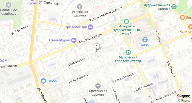 Купить торговую площадь 62 м<sup>2</sup> в Муроме по адресу Россия, Владимирская область, Муром, Советская улица, 45