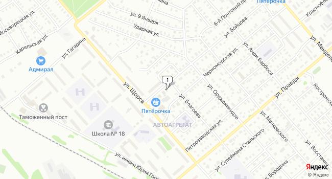 Купить торговую площадь 120 м<sup>2</sup> в Кинешме по адресу Россия, Ивановская область, Кинешма, улица Бойцова, 65