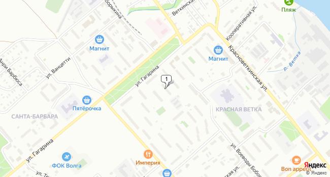 Купить торговую площадь 52 м<sup>2</sup> в Кинешме по адресу Россия, Ивановская область, Кинешма, улица Воеводы Боборыкина, 29А