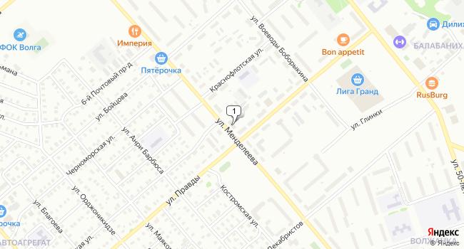 Купить торговую площадь 133 м<sup>2</sup> в Кинешме по адресу Россия, Ивановская область, Кинешма, улица Менделеева, 36