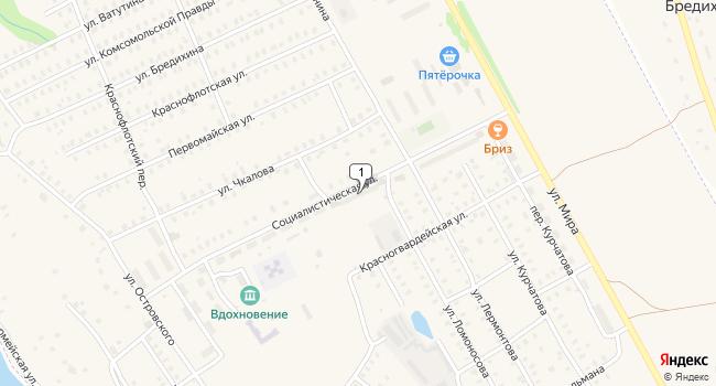 Купить торговую площадь 57 м<sup>2</sup> в Заволжске по адресу Россия, Ивановская область, Заволжск, Социалистическая улица, 22