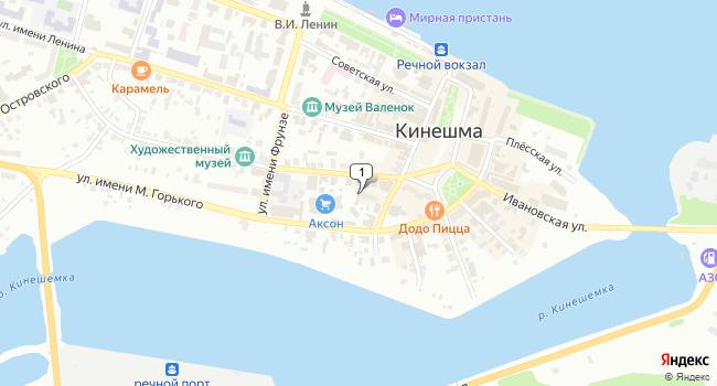 Купить офис 50 м<sup>2</sup> в Кинешме по адресу Россия, Ивановская область, Кинешма, Комсомольская улица, 5А