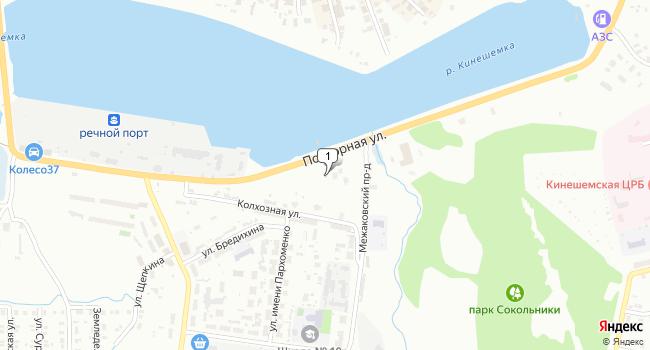 Купить торговую площадь 400 м<sup>2</sup> в Кинешме по адресу Россия, Ивановская область, Кинешма, Подгорная улица, 6
