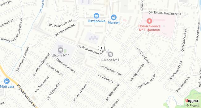 Купить земельный участок 7500 м<sup>2</sup> в Кинешме по адресу Россия, Ивановская область, Кинешма, улица Урицкого