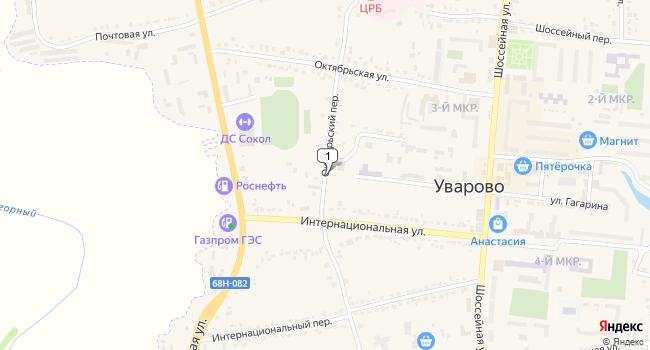 Купить отдельное здание 724.5 м<sup>2</sup> в Уварово по адресу Россия, Тамбовская область, Уварово, Октябрьский переулок
