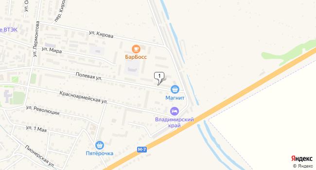 Купить торговую площадь 550 м<sup>2</sup> в Гороховце по адресу Россия, Владимирская область, Гороховец, Полевая улица, 43