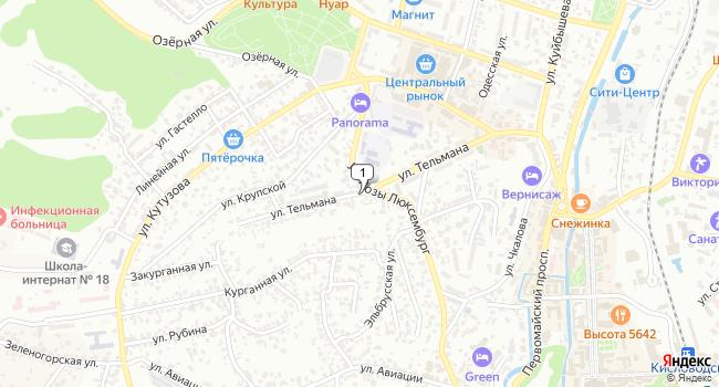 Купить земельный участок 2200 м<sup>2</sup> в Кисловодске по адресу Россия, Ставропольский край, Кисловодск, улица Тельмана