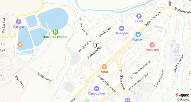 Купить земельный участок 800 м<sup>2</sup> в Кисловодске по адресу Россия, Ставропольский край, Кисловодск, Замковая улица
