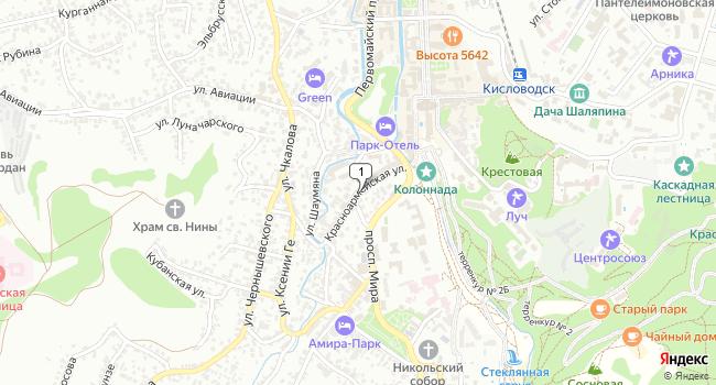 Купить земельный участок 1000 м<sup>2</sup> в Кисловодске по адресу Россия, Ставропольский край, Кисловодск, Красноармейская улица