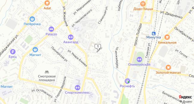Купить земельный участок 1400 м<sup>2</sup> в Кисловодске по адресу Россия, Ставропольский край, Кисловодск, Белорусская улица