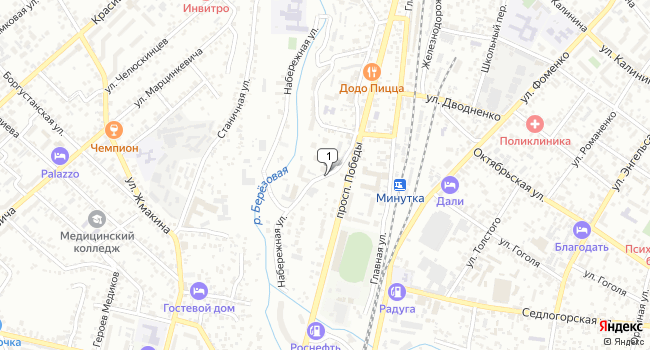Купить земельный участок 900 м<sup>2</sup> в Кисловодске по адресу Россия, Ставропольский край, Кисловодск, Набережная улица