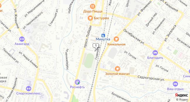 Купить земельный участок 500 м<sup>2</sup> в Кисловодске по адресу Россия, Ставропольский край, Кисловодск, Главная улица, 9