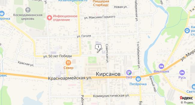 Купить торговую площадь 972 м<sup>2</sup> в Кирсанове по адресу Россия, Тамбовская область, Кирсанов, улица 50 лет Победы, 29