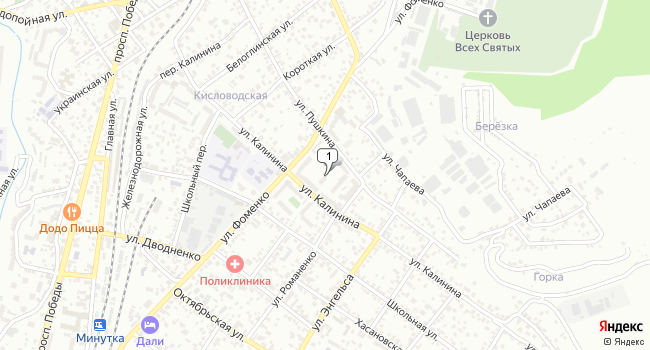 Купить земельный участок 400 м<sup>2</sup> в Кисловодске по адресу Россия, Ставропольский край, Кисловодск, улица Фоменко, 106