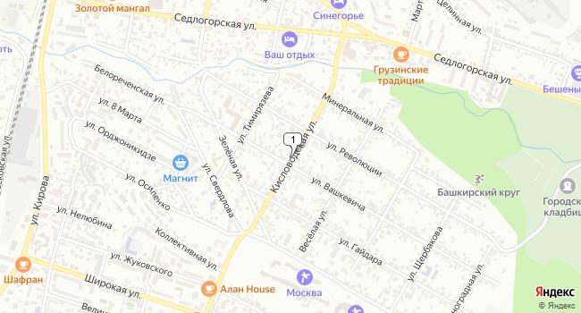 Купить земельный участок 1000 м<sup>2</sup> в Кисловодске по адресу Россия, Ставропольский край, Кисловодск, Кисловодская улица