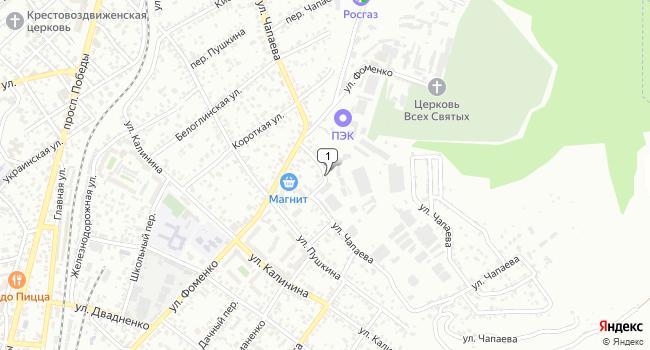 Купить земельный участок 800 м<sup>2</sup> в Кисловодске по адресу Россия, Ставропольский край, Кисловодск, улица Чапаева