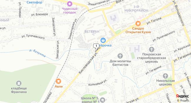 Купить торговую площадь 88 м<sup>2</sup> в Ессентуках по адресу Россия, Ставропольский край, Ессентуки, Кисловодская улица, 116А